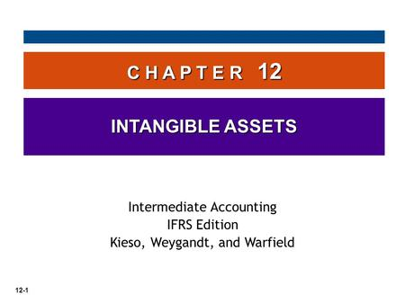 C H A P T E R 12 INTANGIBLE ASSETS