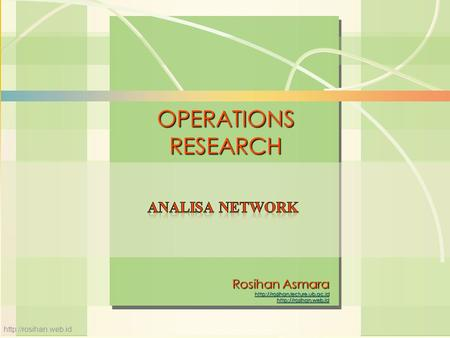 6s-1Linear Programming William J. Stevenson Operations Management 8 th edition OPERATIONS RESEARCH  Rosihan Asmara