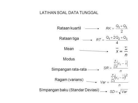 LATIHAN SOAL DATA TUNGGAL