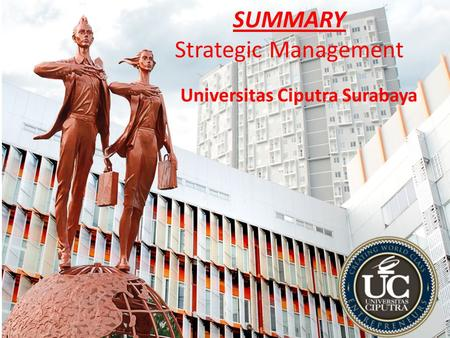 SUMMARY Strategic Management Universitas Ciputra Surabaya.