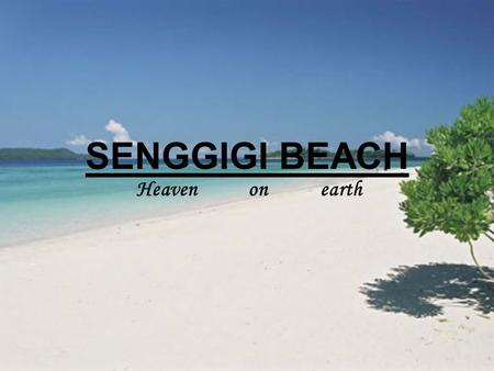 SENGGIGI BEACH Heaven on earth.