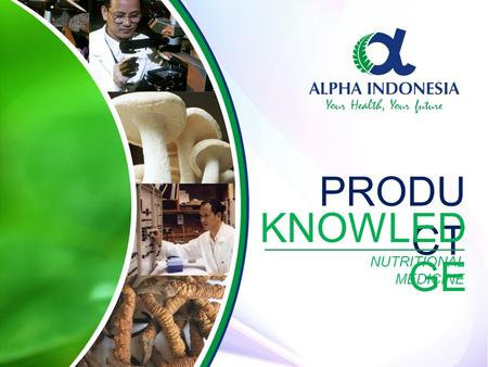 PRODUCT KNOWLEDGE NUTRITIONAL MEDICINE.