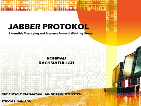 Extensible Messaging and Presence Protocol Working Group