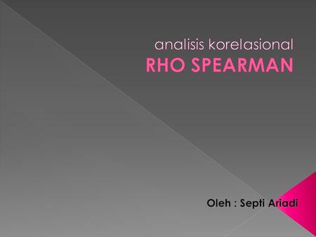 analisis korelasional RHO SPEARMAN