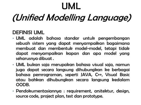 UML (Unified Modelling Language)