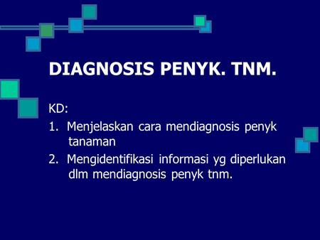 DIAGNOSIS PENYK. TNM. KD: