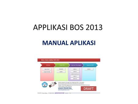 APPLIKASI BOS 2013 MANUAL APLIKASI.
