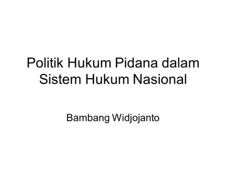 Hukum pidana indonesia ppt