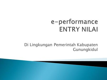 e-performance ENTRY NILAI
