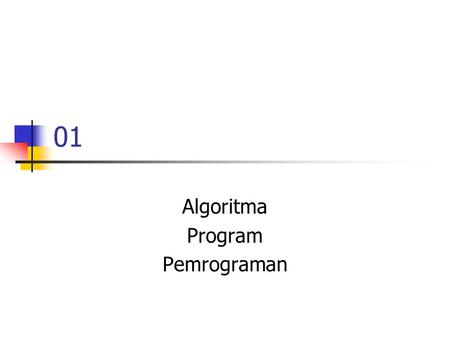 Algoritma Program Pemrograman