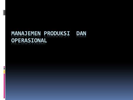 Jurnal manajemen operasi dan produksi download