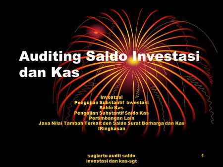 1 Halaman Bab V Audit Siklus Investasi Dan Pendanaan