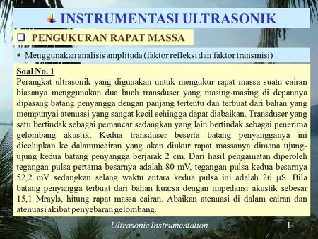 INSTRUMENTASI ULTRASONIK