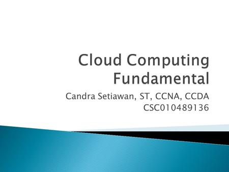 Cloud Computing Fundamental