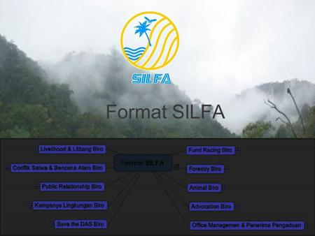 1 Format SILFA. 2 Fund Racing Biro Penyusunan Program SILFA Pembuatan Proposal Program Melobi Program di Luar Lembaga Mengikuti Tander Proposal Project.
