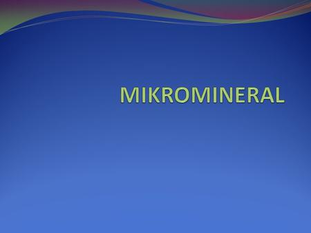 MIKROMINERAL.