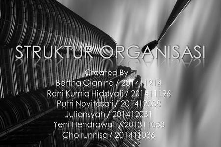 STRUKTUR ORGANISASI Created By : Bertha Gianina /