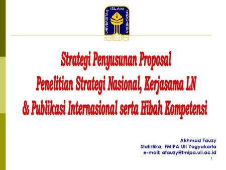 Strategi Penyusunan Proposal