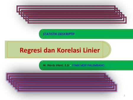 Regresi dan Korelasi Linier