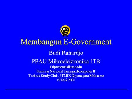 Membangun E-Government