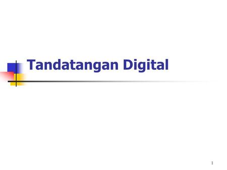 Tandatangan Digital.