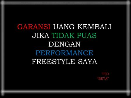 PERFORMANCE FREESTYLE SAYA