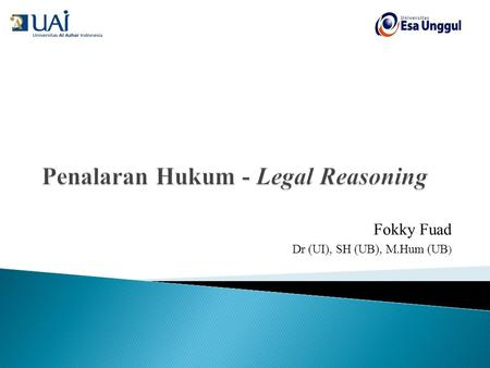 Penalaran Hukum - Legal Reasoning