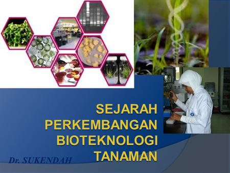 Dr. SUKENDAH. What is Biotechnology Biotechnology is the application of scientific and engneering principles to the processing of materials by biological.