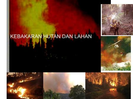 KEBAKARAN HUTAN DAN LAHAN Cover. Sejarah Kebakaran Hutan di Indonesia  In Indonesia forest fire seems to be a regular phenomenon that could happen every.