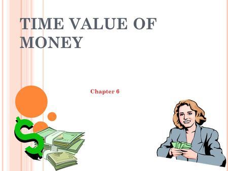 TIME VALUE OF MONEY Chapter 6.