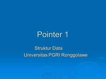 Struktur Data Universitas PGRI Ronggolawe