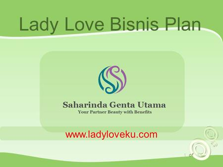 1 of 13 Lady Love Bisnis Plan www.ladyloveku.com.