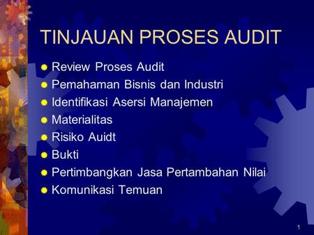 TINJAUAN PROSES AUDIT Review Proses Audit