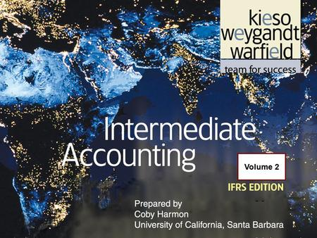 22-1 Volume 2. 22-2 C H A P T E R 22 ACCOUNTING CHANGES AND ERROR ANALYSIS Intermediate Accounting IFRS Edition Kieso, Weygandt, and Warfield.