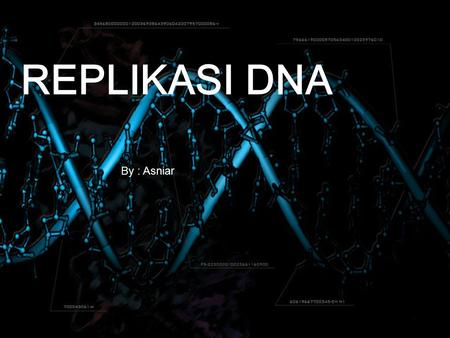 REPLIKASI DNA By : By : Asniar. DEFINISIMEKANISMECONTOH.