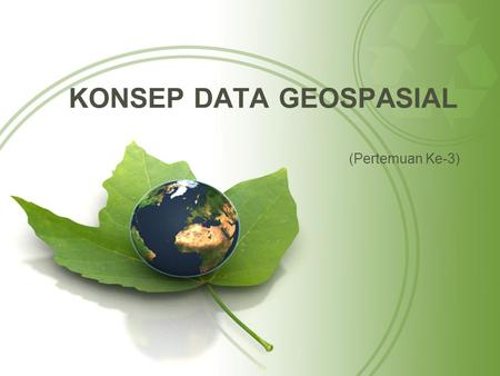 KONSEP DATA GEOSPASIAL