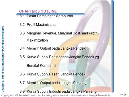 CHAPTER 8 OUTLINE 8.1	Pasar Persaingan Sempurna