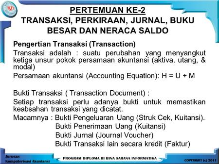 Pengertian Transaksi (Transaction)
