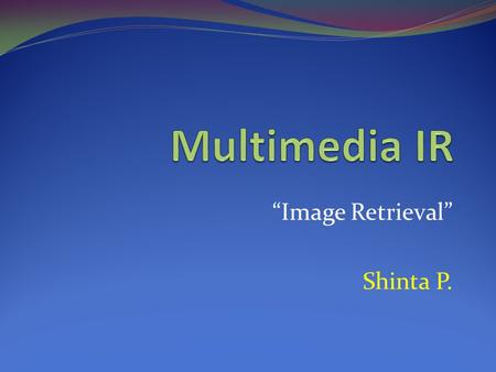 """Image Retrieval"" Shinta P."