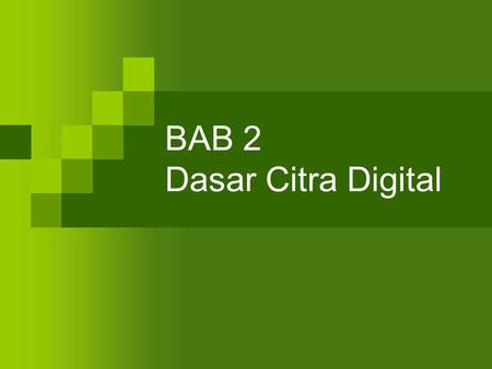 BAB 2 Dasar Citra Digital