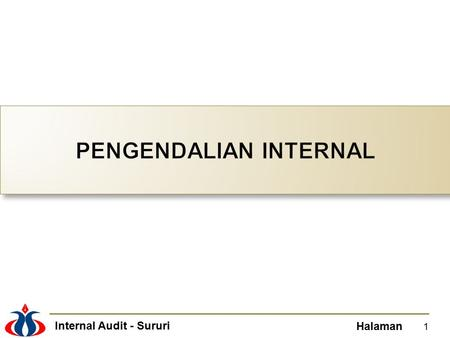 PENGENDALIAN INTERNAL