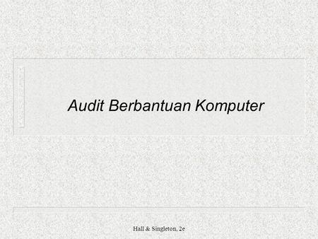 Audit Berbantuan Komputer