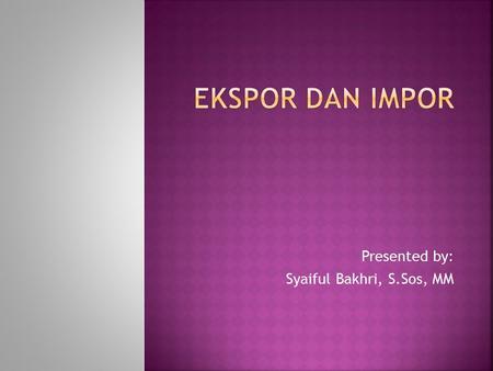 Presentasi powerpoint pada perdagangan forex