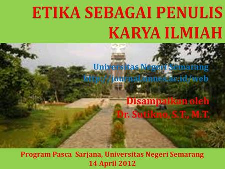 Program Pasca Sarjana, Universitas Negeri Semarang