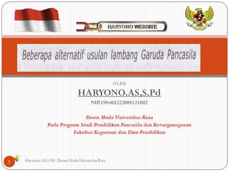 HARYONO.AS,S.Pd NIP Dosen Muda Universitas Riau