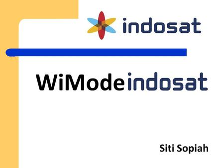 Siti Sopiah WiMode. Parameter setting manual WAP/GPRS/MMS  Call Center: 111 (Matrix/Starone), 222 (Mentari), dan 300 (IM3) gratis.