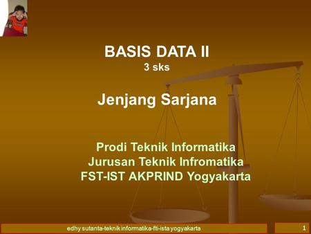 BASIS DATA II Jenjang Sarjana