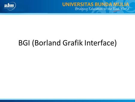 BGI (Borland Grafik Interface)