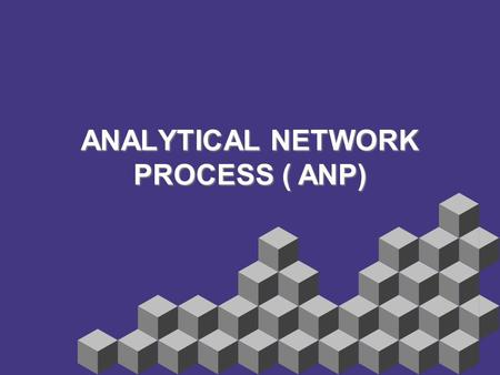 ANALYTICAL NETWORK PROCESS ( ANP)