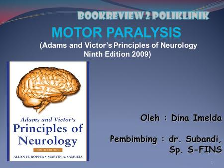 Bookreview 2 poliklinik (Adams and Victor's Principles of Neurology
